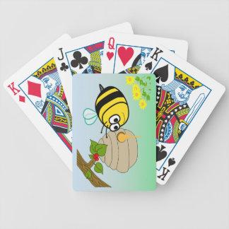 Los naipes del niño lindo de la abeja ocupada cartas de juego