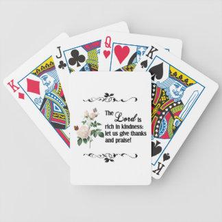 Los naipes del personalizado de señor Is Rich In K Baraja Cartas De Poker