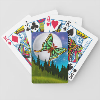 Los naipes españoles de la polilla de la luna baraja de cartas