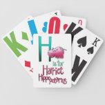 Los naipes, H están para el Hippopotamus de Harrie Baraja Cartas De Poker