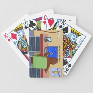 Los naipes ilimitados de la pantalla azul barajas de cartas