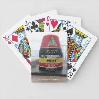 Los naipes más situados más al sur del punto de Ke Baraja Cartas De Poker