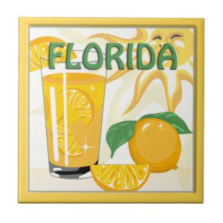 Los naranjas de la sol de la Florida se dirigen la Azulejo Cuadrado Pequeño