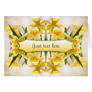 Los narcisos amarillos - gracias tarjeta de felicitación