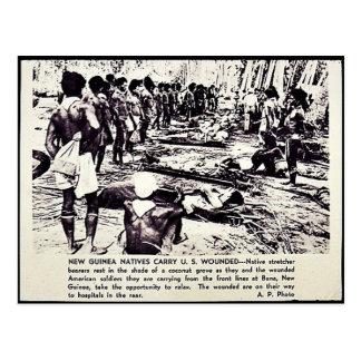 Los naturales de Nueva Guinea llevan los E.E.U.U.  Postales