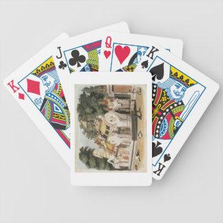 Los naturales pagan homenaje a su regla, grabada p barajas de cartas