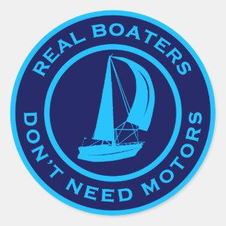 Los navegantes reales no necesitan los motores etiquetas redondas