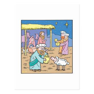 Los navidades cardan a los tres reyes sabios postales