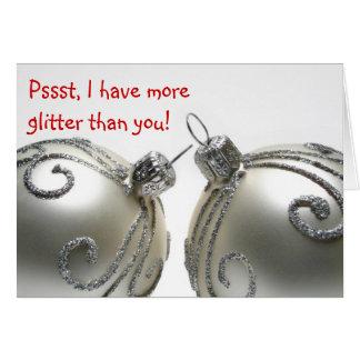 Los navidades divertidos cardan todos sobre bolas tarjeta de felicitación