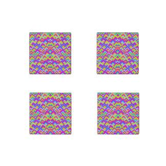 Los neónes brillantes zigzaguean modelo simétrico imán de piedra