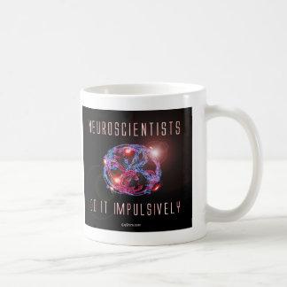 Los neurólogos lo hacen impulsivo taza básica blanca