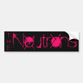 Los neutrones, parachoque pegatina de parachoque