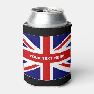 Los neveritas de bebidas británicos de la bandera enfriador de latas