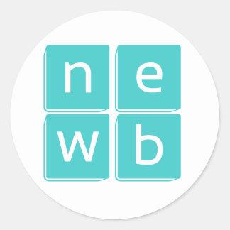 Los Newbies - levántese y cuéntese Etiqueta Redonda