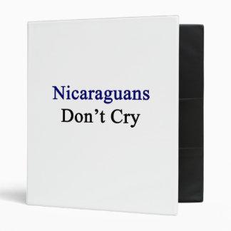 Los Nicaraguans no lloran