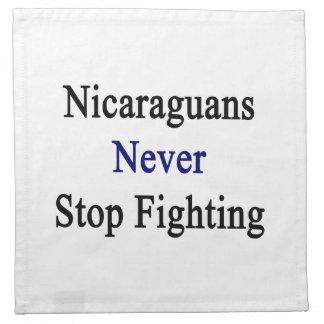 Los Nicaraguans nunca paran el luchar Servilleta Imprimida