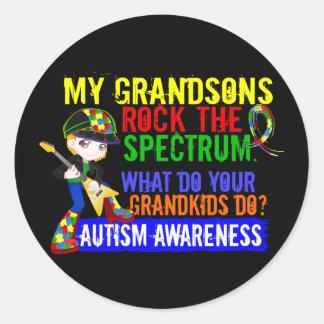 Los nietos oscilan el autismo del espectro pegatina redonda