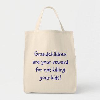 Los nietos son su recompensa por no matar a y… bolsa tela para la compra
