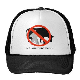 Los NINGUNOS gorras: NINGUNA zona de ordeño