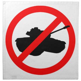 Los ningunos tanques ninguna guerra servilleta