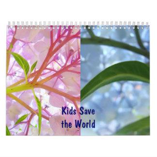 Los niños ahorran comienzo floral de los calendari