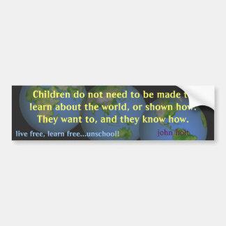 los niños aprenden etiqueta de parachoque