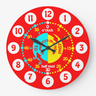 Los niños aprenden decir a tiempo el reloj de