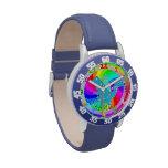 Los niños azules del dragón miran el nombre de enc relojes de pulsera