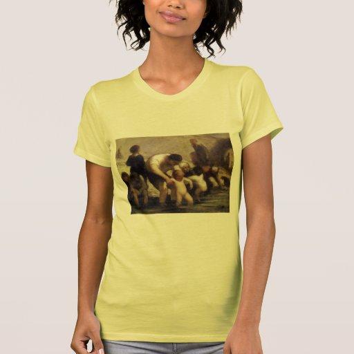Los niños con el baño de Honore Daumier Camisetas