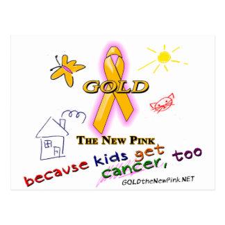 ¡Los niños consiguen al cáncer, también! Tarjeta Postal