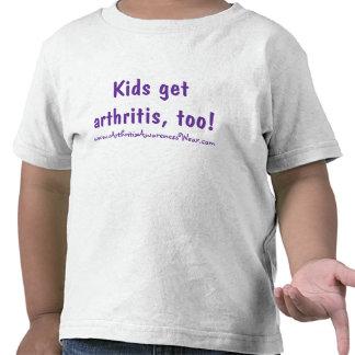 ¡Los niños consiguen artritis, también! Camiseta