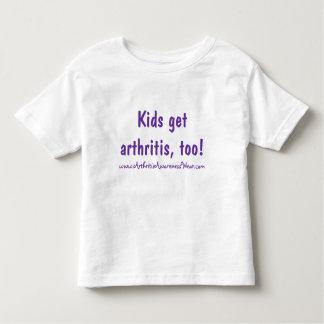 ¡Los niños consiguen artritis, también! Playera De Bebé