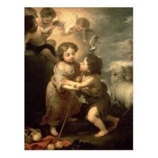 Los niños Cristo y San Juan Bautista Postal