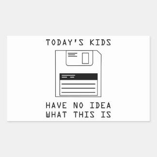 Los niños de hoy no tienen ninguna idea cuáles rectangular altavoz