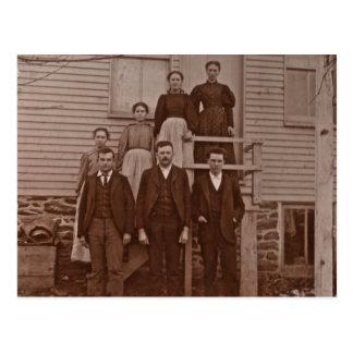 Los niños de Juan y de Maria Rupp circa 1875 Tarjetas Postales