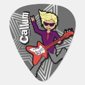 Los niños de la estrella del rock de los muchachos púa de guitarra