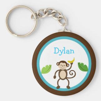 Los niños de la selva del mono personalizaron el l llavero redondo tipo pin