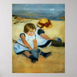 Los niños de Mary Cassatt en la playa (1884) Impresiones