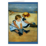 Los niños de Mary Cassatt en la playa (1884) Tarjeta
