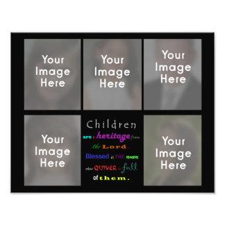 Los niños del collage son una herencia del señor fotografía
