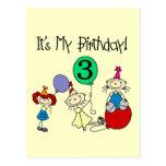 Los niños del palillo van de fiesta las 3ro camise tarjeta postal