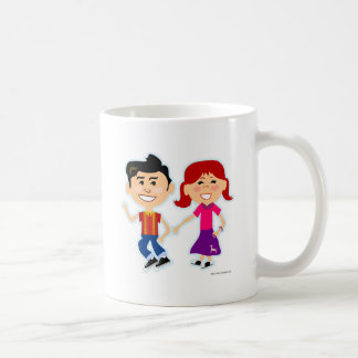 Los niños del salto del calcetín taza de café