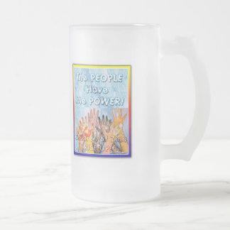 Los niños del vidrio esmerilado del ~ del arte del taza de cristal