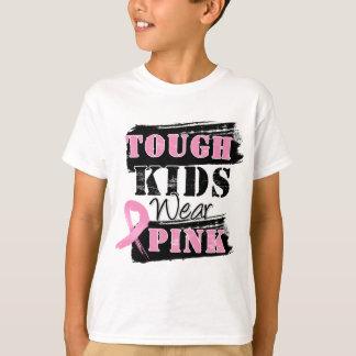 Los niños duros llevan el rosa - conciencia del playera