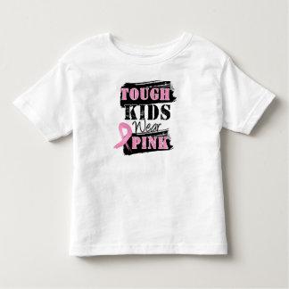Los niños duros llevan el rosa - conciencia del tee shirt