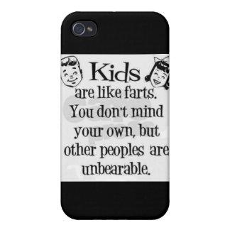 Los niños fart caja de la mota del humor iPhone 4 carcasa