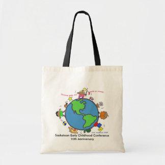 Los niños hacen el mundo/personalizar/Vera Trembac Bolsa Tela Barata