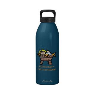 los niños necesitan el fondo estable botella de agua reutilizable