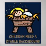 los niños necesitan el fondo estable impresiones