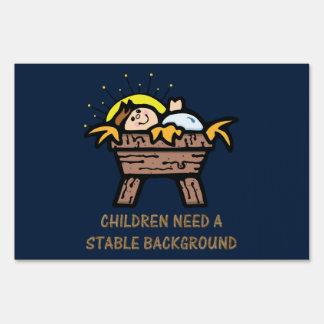 los niños necesitan el fondo estable señal